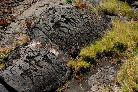 Volcano National Park, Petroglyphs