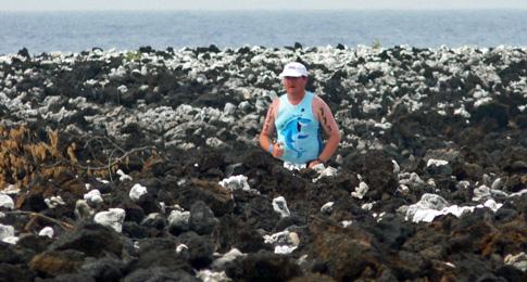 Hawaii Ironman 70.3, me approaching finish line