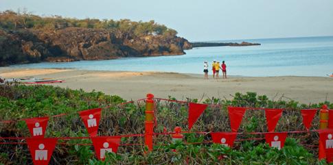 Hawaii Ironman 70.3 triathlon, Start area at Hapuna Beach