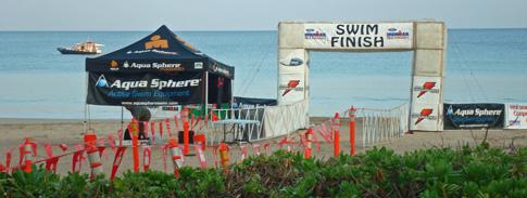 Hawaii Ironman 70.3 triathlon, Swim Finish at Hapuna Beach
