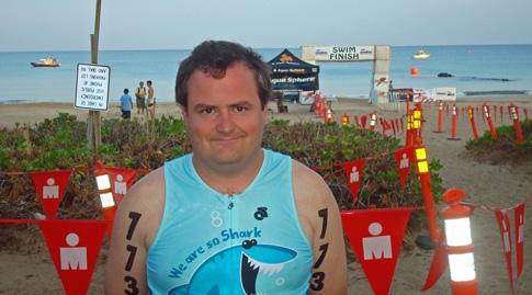 Hawaii Ironman 70.3 triathlon, me just before the start