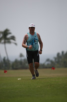 Hawaii Ironman 70.3 triathlon, me on the run course