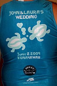 Hawaii Ironman 70.3 triathlon, wedding singlet